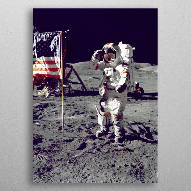 Moon 87 metal poster