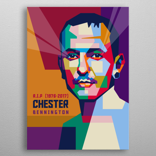 Chester Charles Bennington was an American singer, songwriter, musician, and actor. He was best known as the lead vocalist for Linkin Park. metal poster