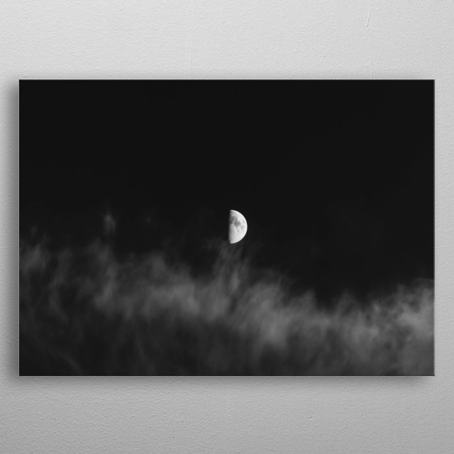 Moon 15 metal poster