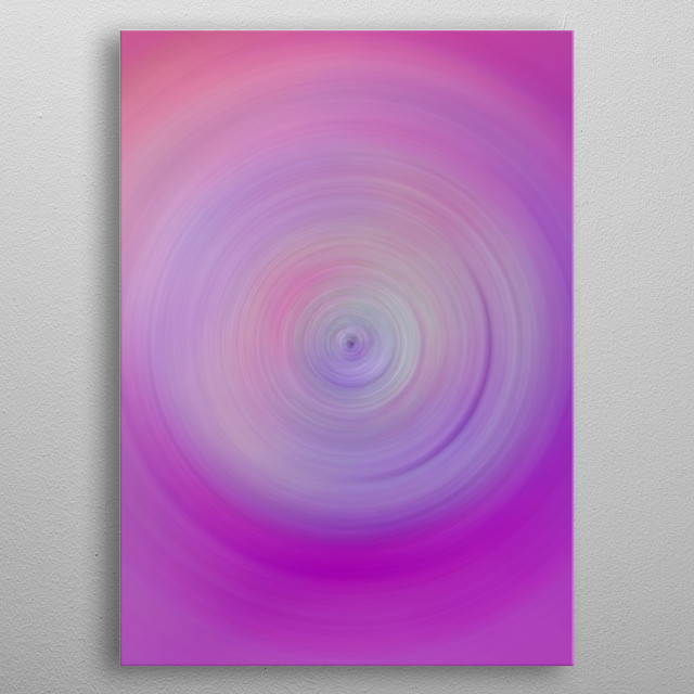 Originally an ink painting I have manipulated it to create a spacy vortex look. metal poster