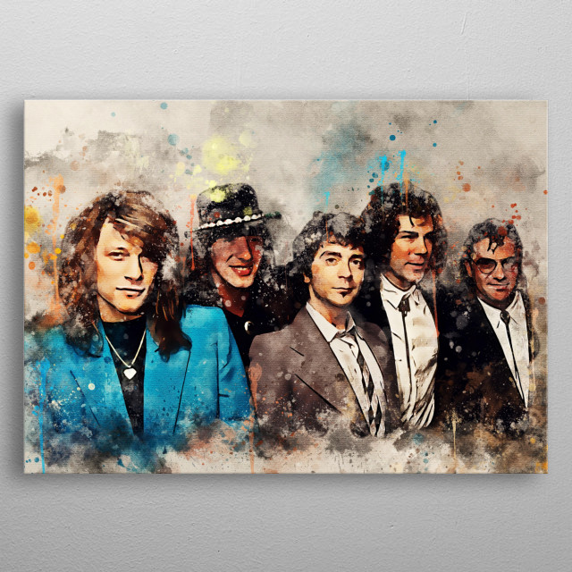 Bon Jovi is a rock music group from Sayreville, New Jersey, United States. They have sold more than 40 million albums metal poster