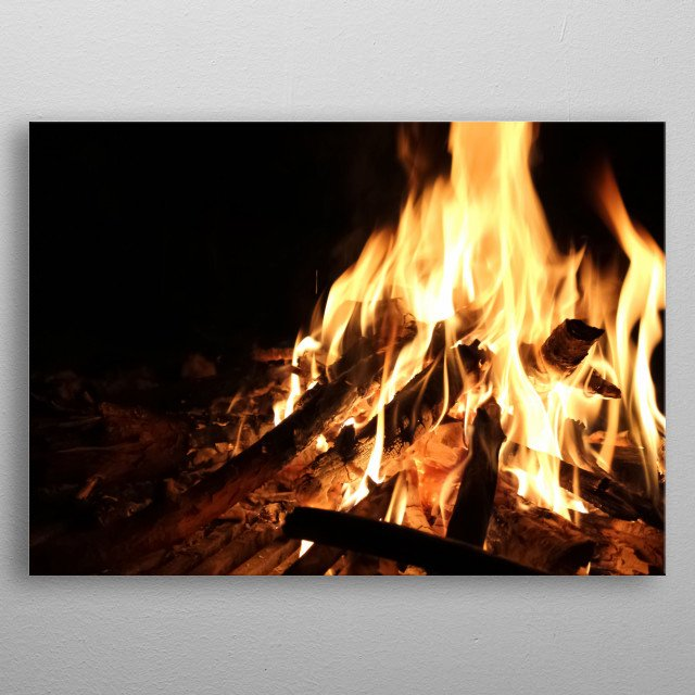 Fire 95 metal poster