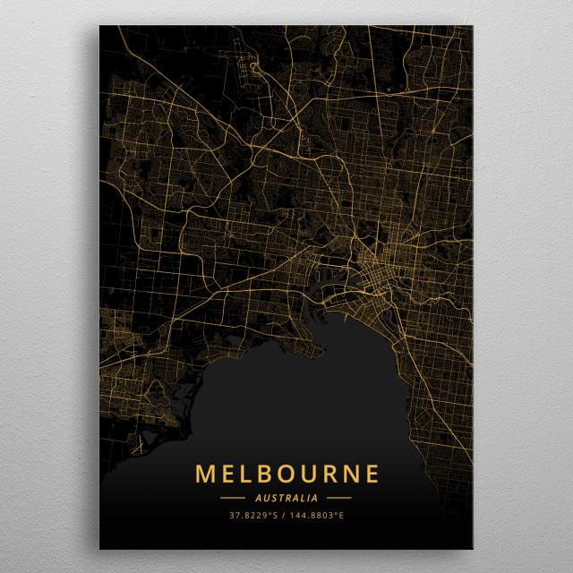 Melbourne, Australia metal poster