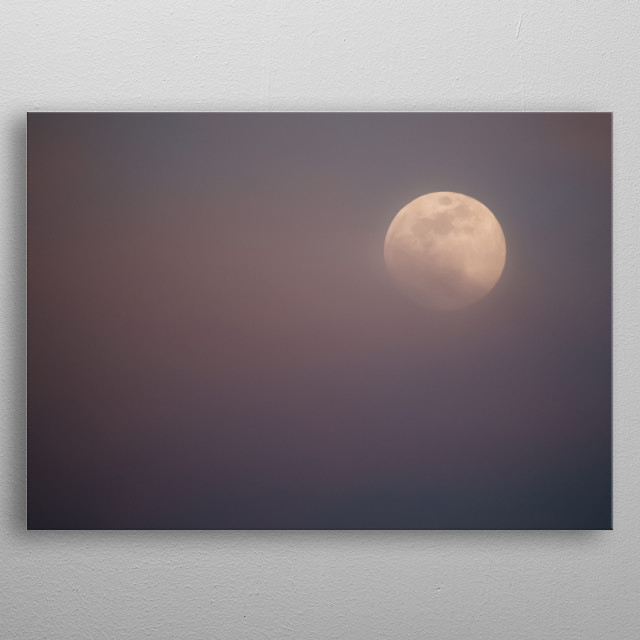 Moon 49 metal poster
