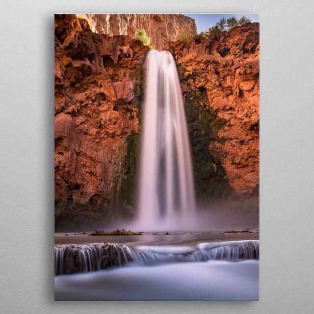 Waterfalls 32 metal poster