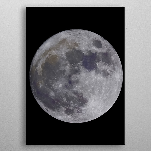 Moon 23 metal poster