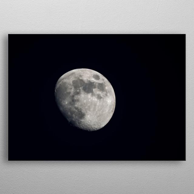 Moon 28 metal poster