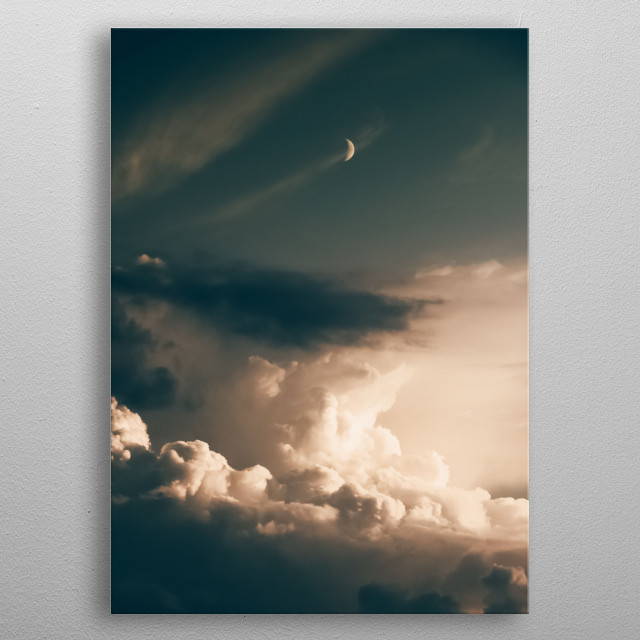 Cloud 11 metal poster