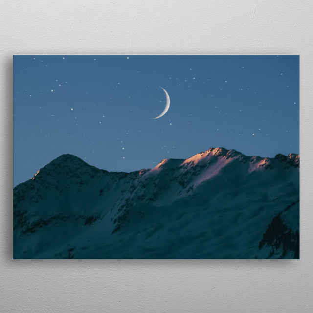 Moon 86 metal poster