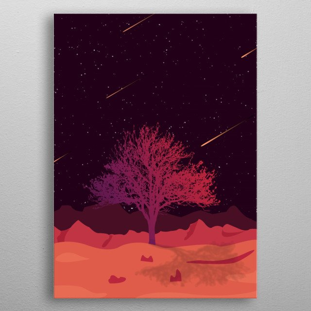 Mars is our future, Our Future on the Red Planet. Is an imagination, human habitation of Mars isn't much farther off. metal poster