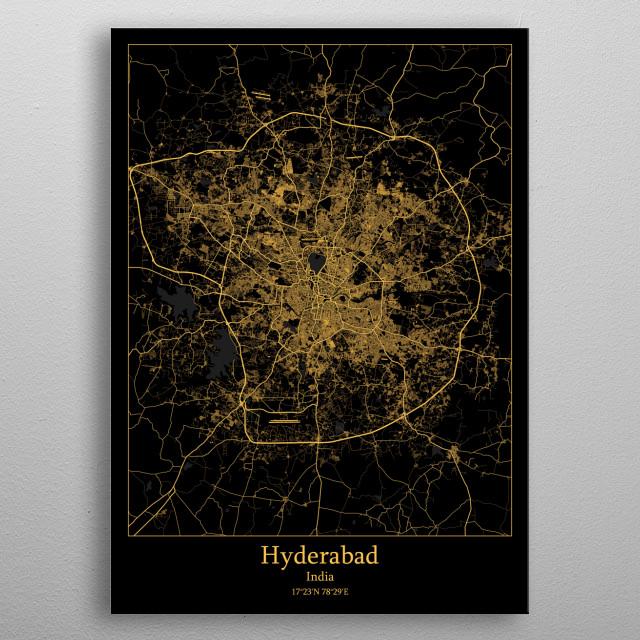 Hyderabad India metal poster