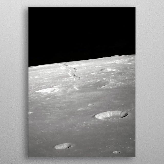 Moon 54 metal poster