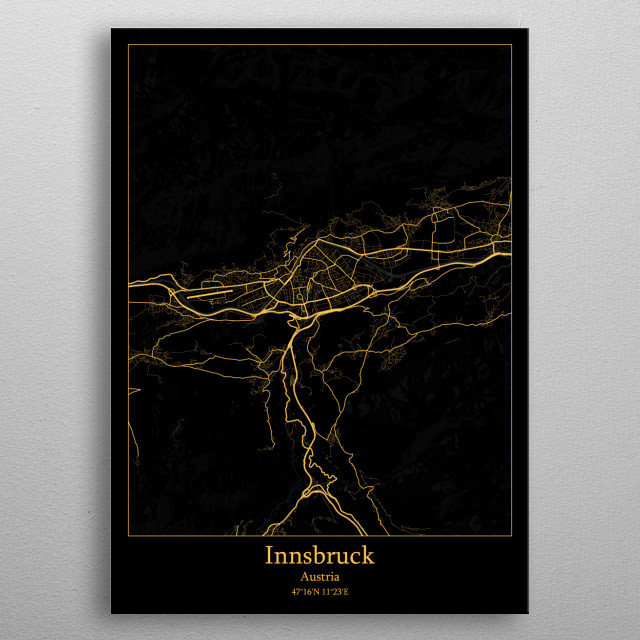 Innsbruck Austria metal poster