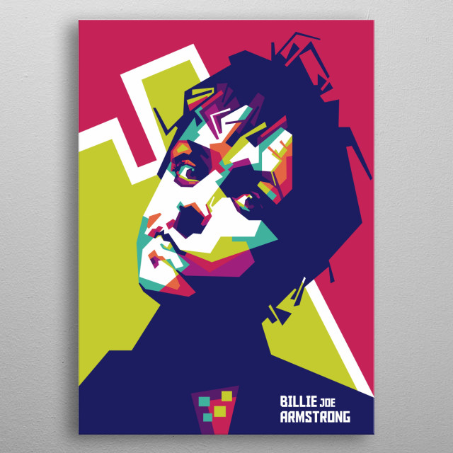 Billie Joe Armstrong is an American singer, songwriter, musician, and lead guitarist of the punk rock band Green Day. metal poster