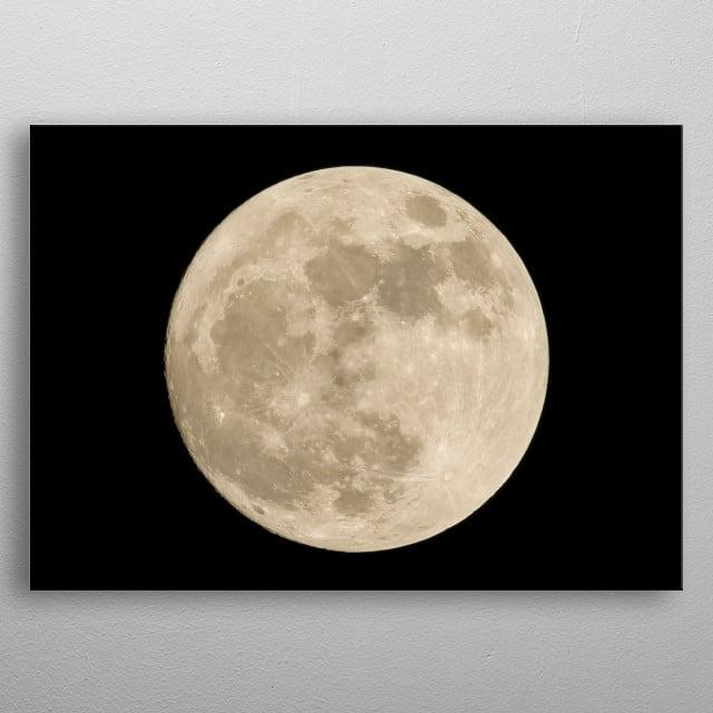 Moon 98 metal poster