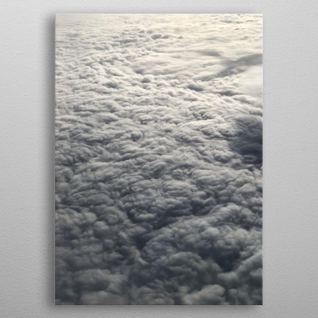 Cloud 16 metal poster