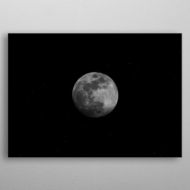 Moon 93 metal poster