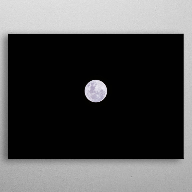 High-quality metal print from amazing Moon collection will bring unique style to your space and will show off your personality. metal poster