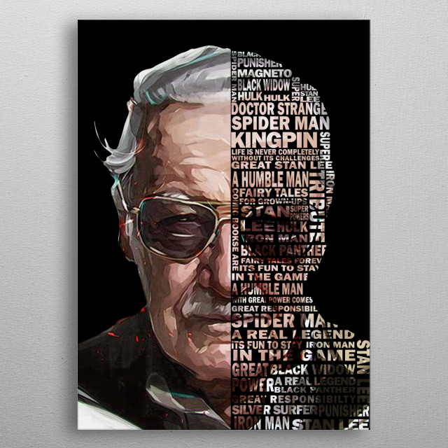 TRIBUTE TO GREAT STAN LEE metal poster