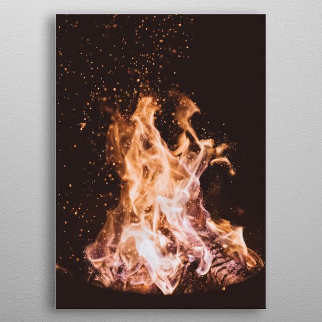 Fire 11 metal poster