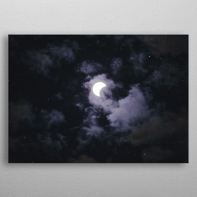 Moon 30 metal poster