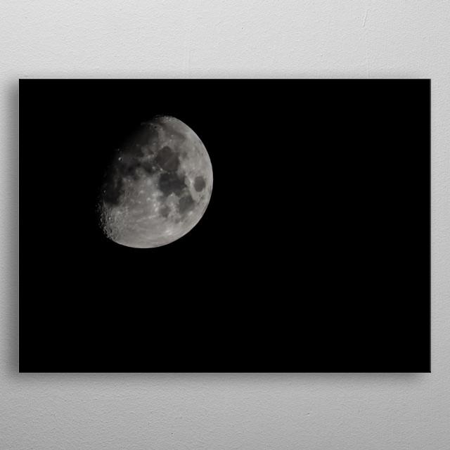 Moon 72 metal poster