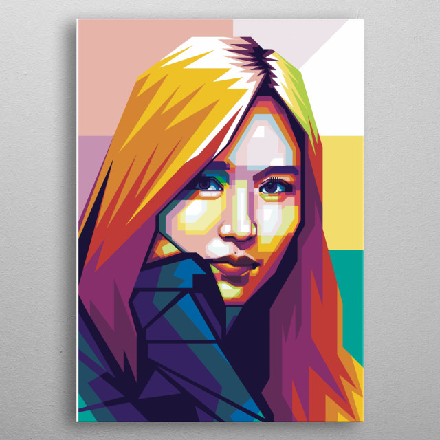 mina twice illstration wpap , wpap is a art from indonesia. I use portrait face of mina Twice member for make this artwork. metal poster