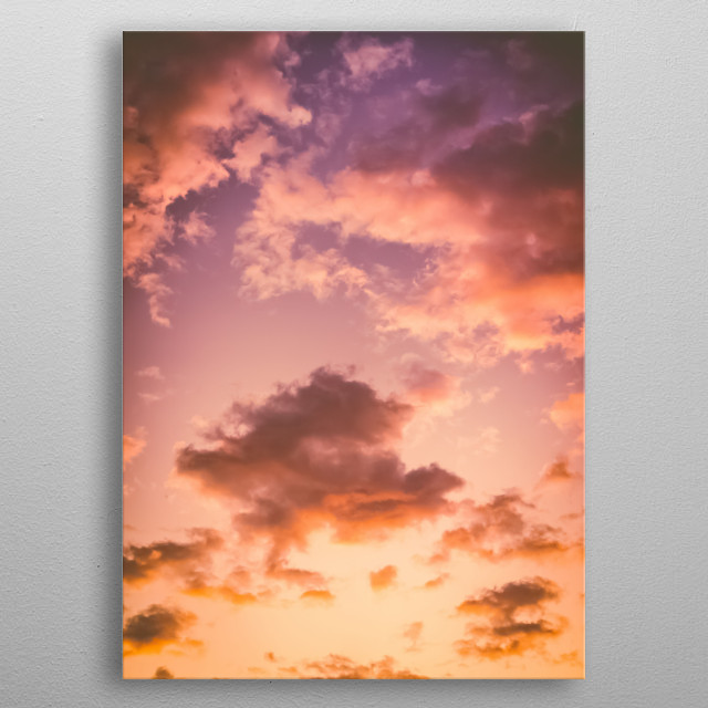 High-quality metal print from amazing Sky collection will bring unique style to your space and will show off your personality. metal poster