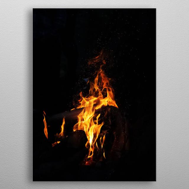 Fire 2 metal poster