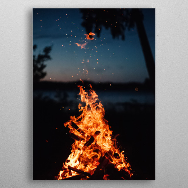 Fire 4 metal poster