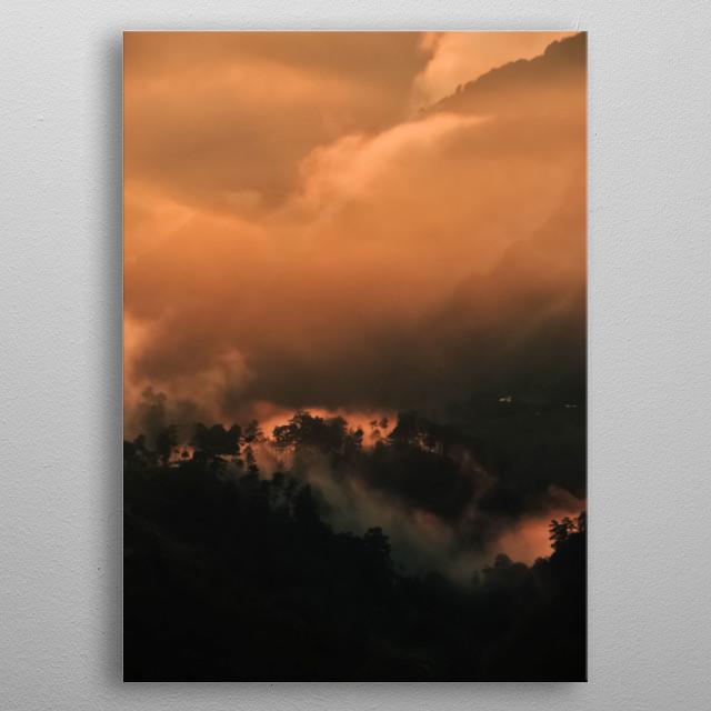 Cloud 5 metal poster