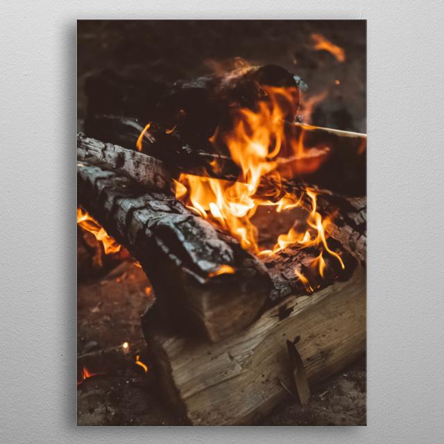 Fire 24 metal poster