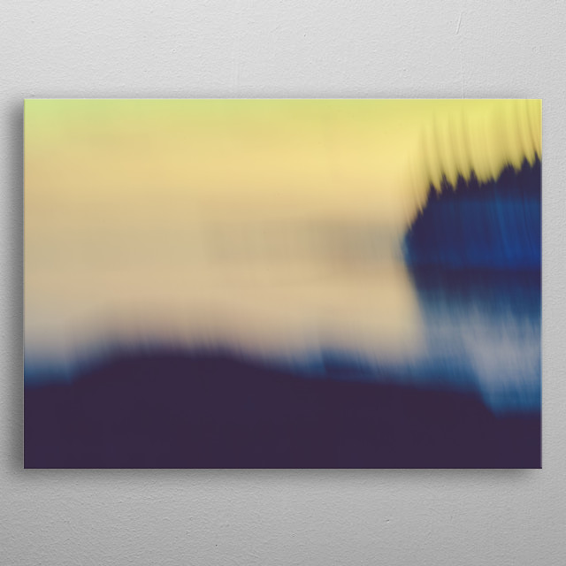 Long exposure abstract photography of ocean and a coastal landscape. metal poster