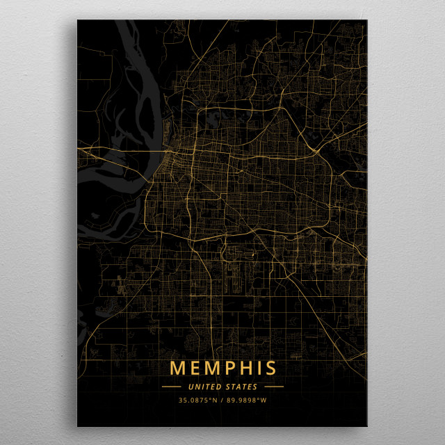 Memphis, United States metal poster