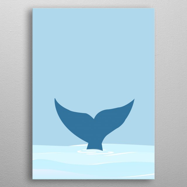 The movement  of a whale  metal poster