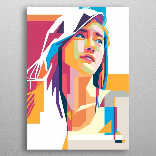 SNSD Yoona in WPAP Art metal poster
