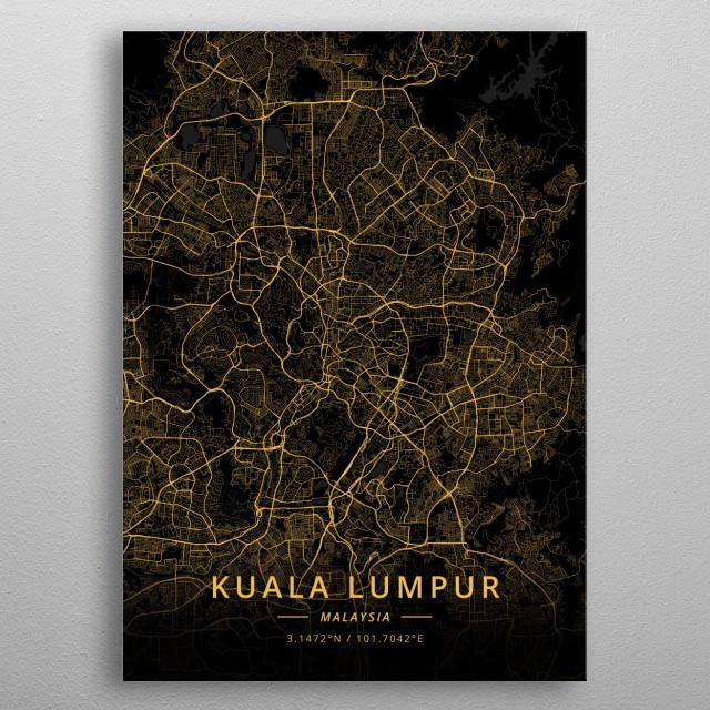 Kuala Lumpur, Malaysia metal poster