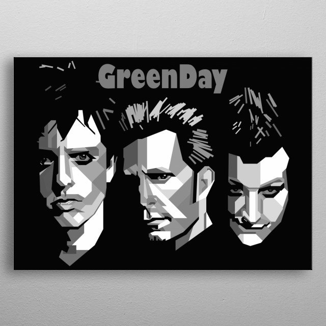 Greenday Design in Grayscale Style metal poster