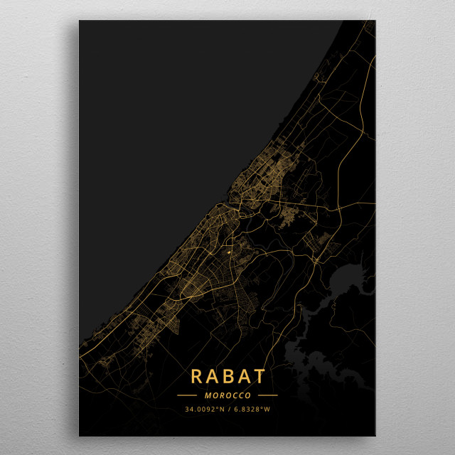 Rabat, Morocco metal poster