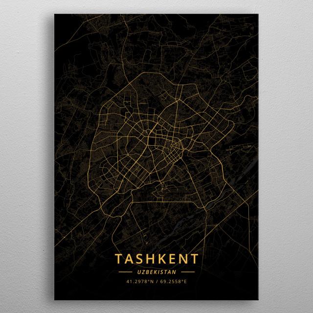 Tashkent, Uzbekistan metal poster