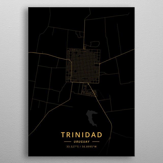 Trinidad, Uruguay metal poster