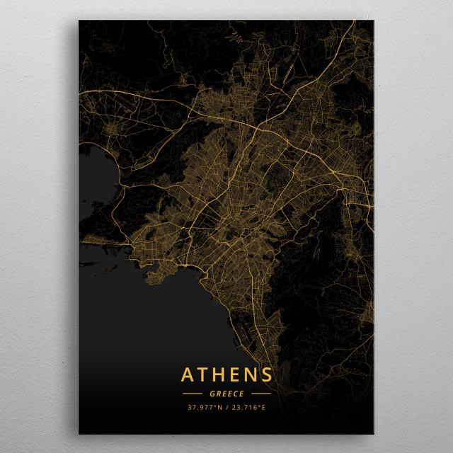 Athens, Greece metal poster