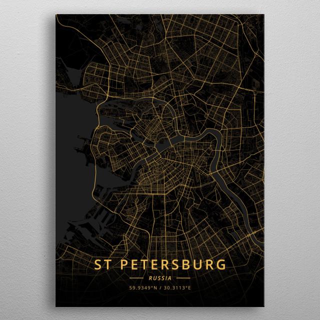 St Petersburg, Russia metal poster