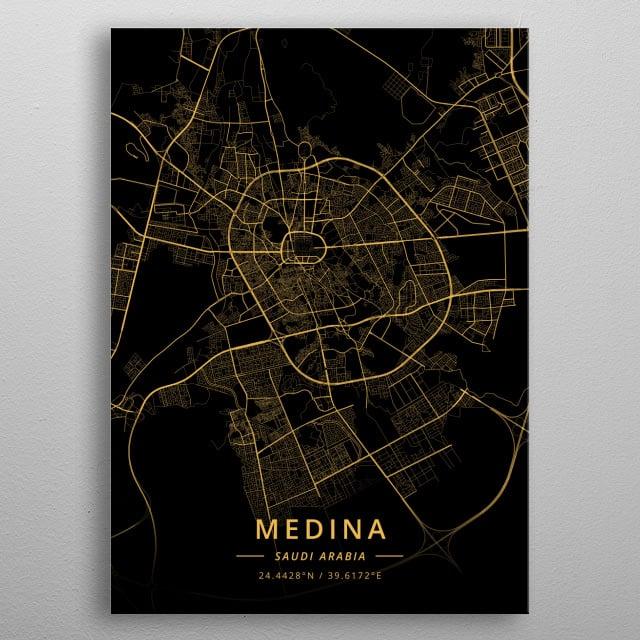 Medina, Saudi Arabia metal poster