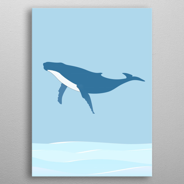 The movement of a whale jumping #1 metal poster