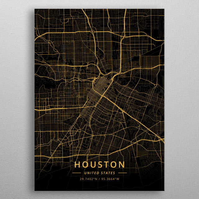 Houston, United States metal poster