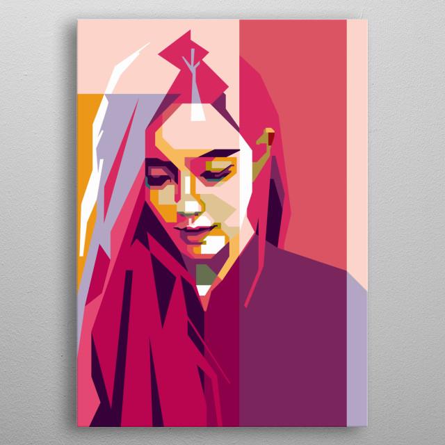 T-ara Hyomin in WPAP Art metal poster