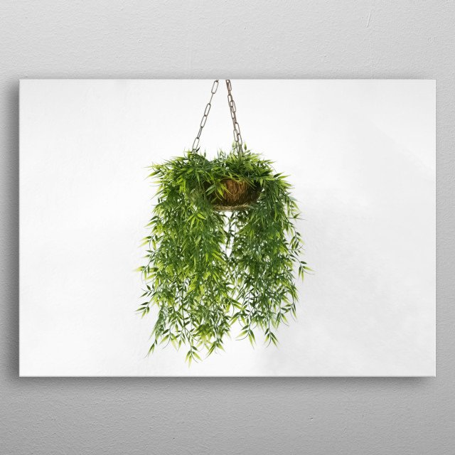 High-quality metal print from amazing Plants And Statue collection will bring unique style to your space and will show off your personality. metal poster