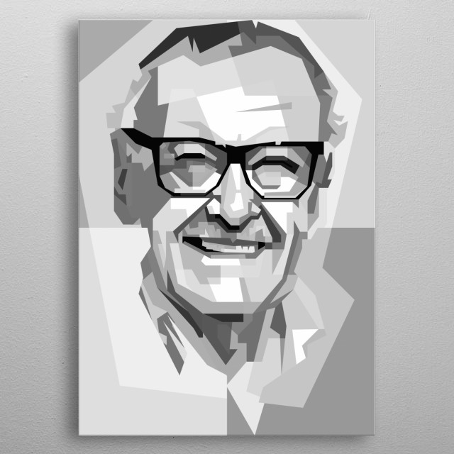 Stan Lee Design in Grayscale Style metal poster