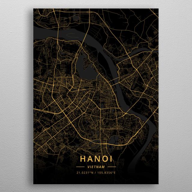 Hanoi, Vietnam metal poster